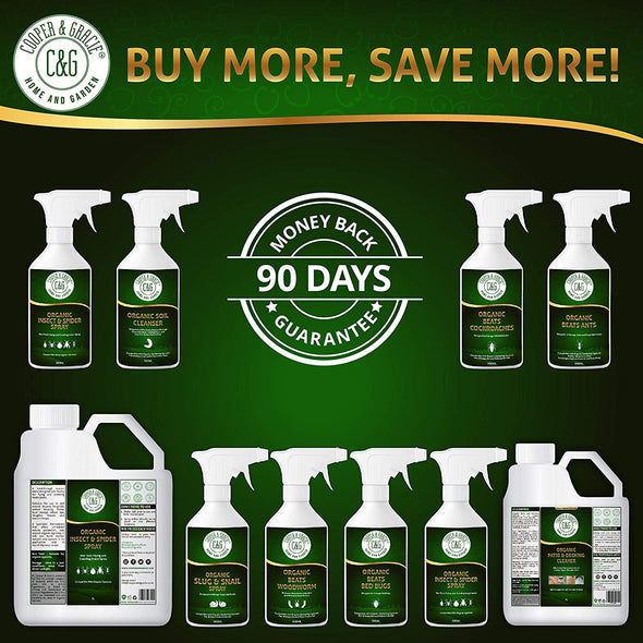 Organic Slug and Snail Plant Defence 500ml NonToxic 100% Plant Based Natural Slug Spray Eco Friendly