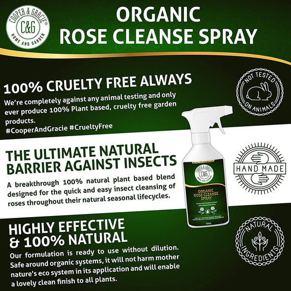 Organic Rose Cleanse Spray 500ML Quick Rose Insect Cleansing