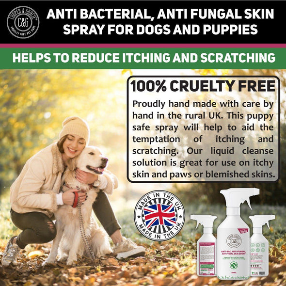 Anti-bacterial Anti-fungal Itchy Skin Spray For Dogs - Best Itchy Skin Soothing Aid