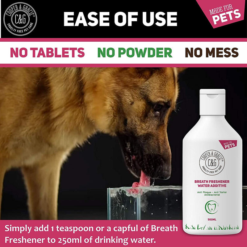 Breath Freshener Anti Plaque Water Additive for Dogs and Cats (4432792584247)