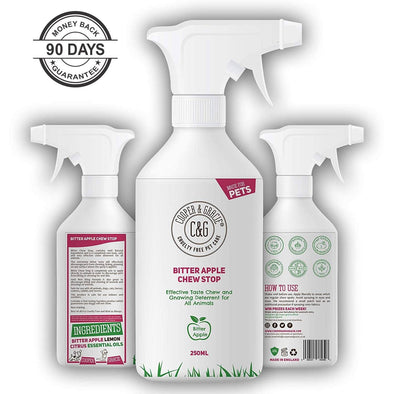 No Chew Bitter Apple Spray for Dogs Stop Dog Chewing Deterrent Alcohol Free Anti Chew Repellent