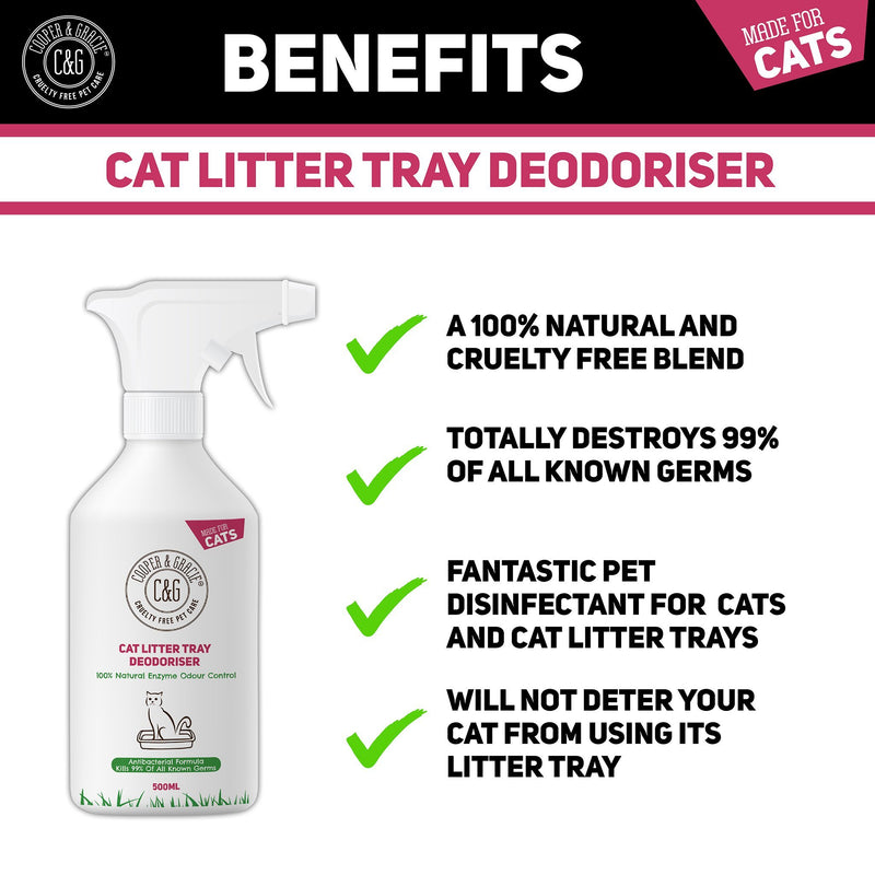 Cat Litter Tray Deodoriser | Kills Bad Smells and Disinfects Cat Litter 100% Natural (4457267167287)