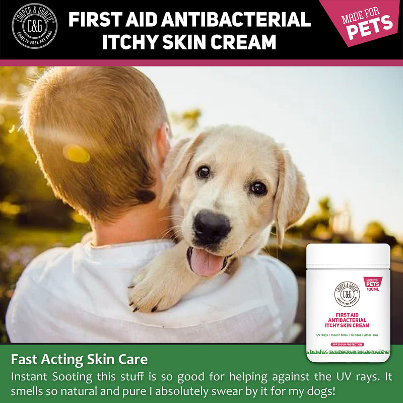 Anti-Bacterial Cream for Dogs and Cats for Itchy Skin – with SPF 50 Sun Cream (4582628327479)