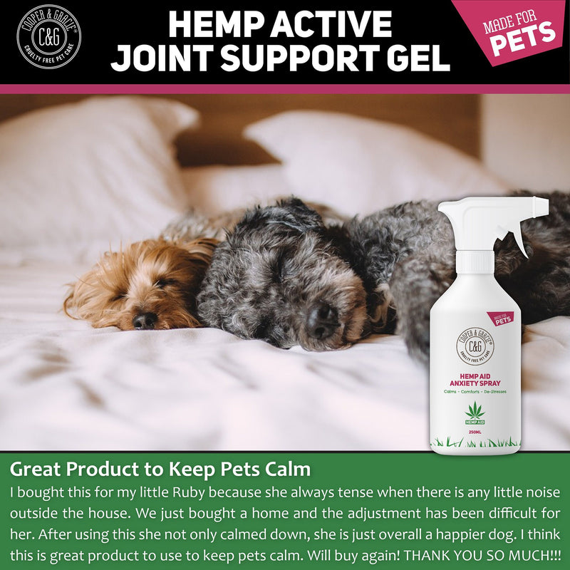Hemp Anxiety Pet Spray | Reduces stress & helps aid behaviour | Great for travel (4432786686007)
