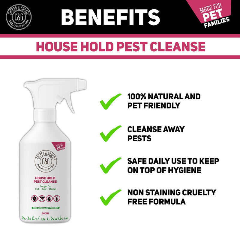 House Hold Pest Cleanse | Protection against Fleas, Ticks & Bed Bugs 500ML (4465227464759)