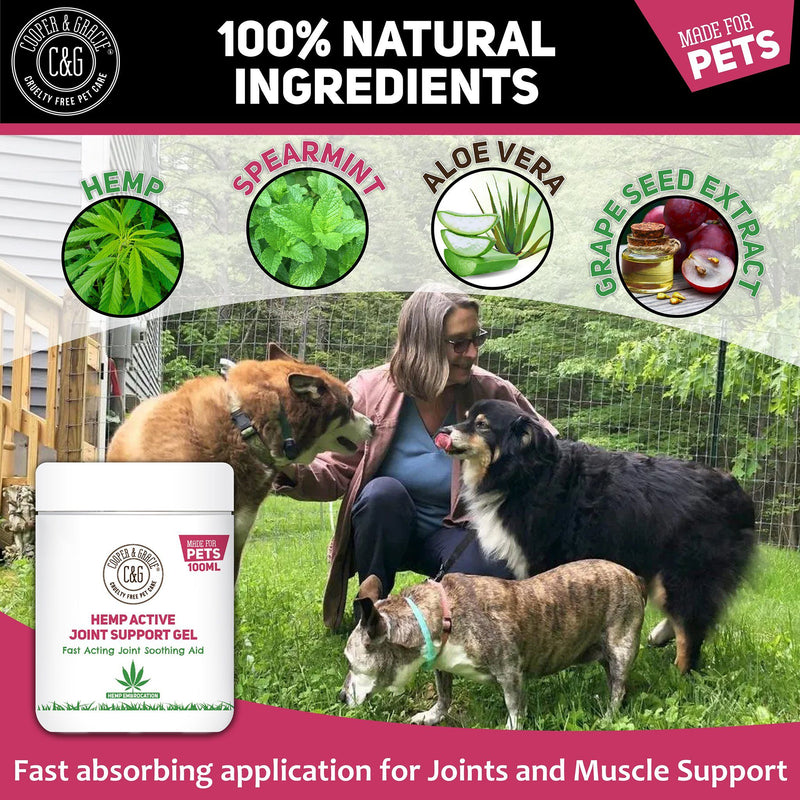 Hemp Active Joint Support Gel for Pets | Quickly absorbs, Instant Action (4432801988663)