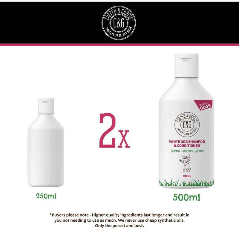 White Coat Dog Shampoo and Conditioner (1449124036663)