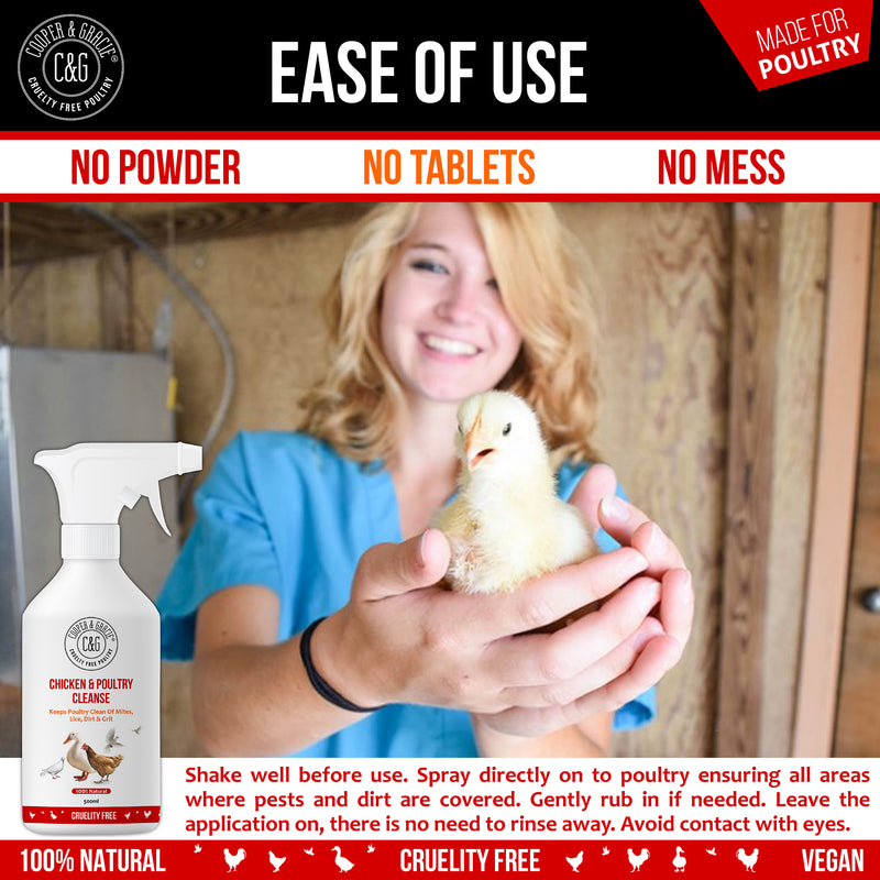 Chicken and Poultry Cleanse Mite and Lice Spray