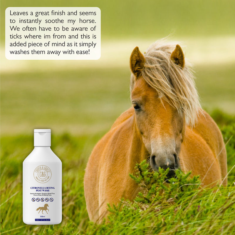 Horse Citronella Biting Pest Wash Powerful Organic Horse Shampoo Instant Antiseptic Soothing Relief (1620388773943)