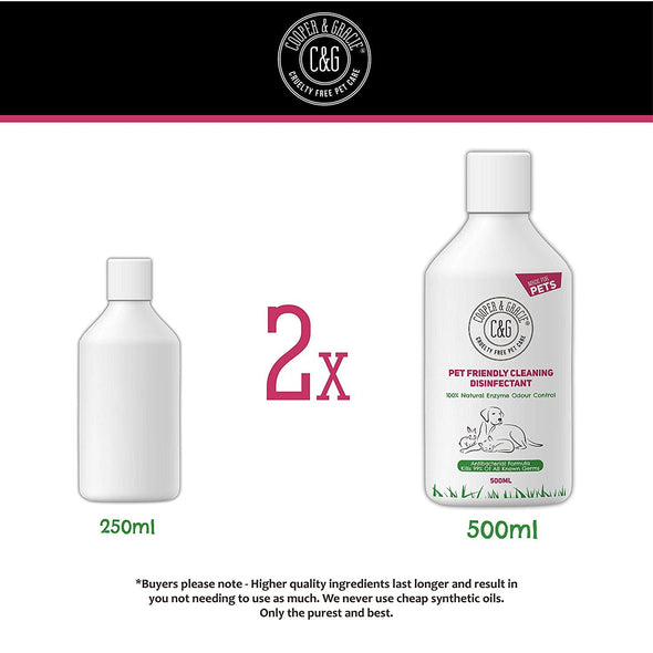 Concentrated Pet Disinfectant Friendly Cleaning 500 ML 100% Natural Enzymes Antibacterial Antifungal