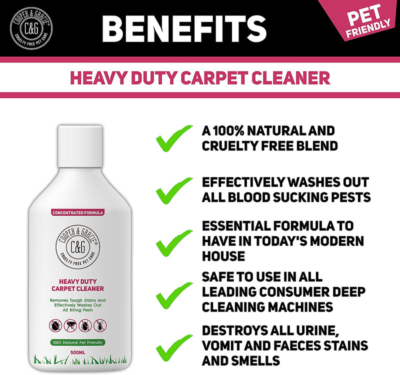 HEAVY DUTY PEST CARPET CLEANER CONCENTRATE | 100% NATURAL CRUELTY FREE ENZYME BLEND (4582631702583)