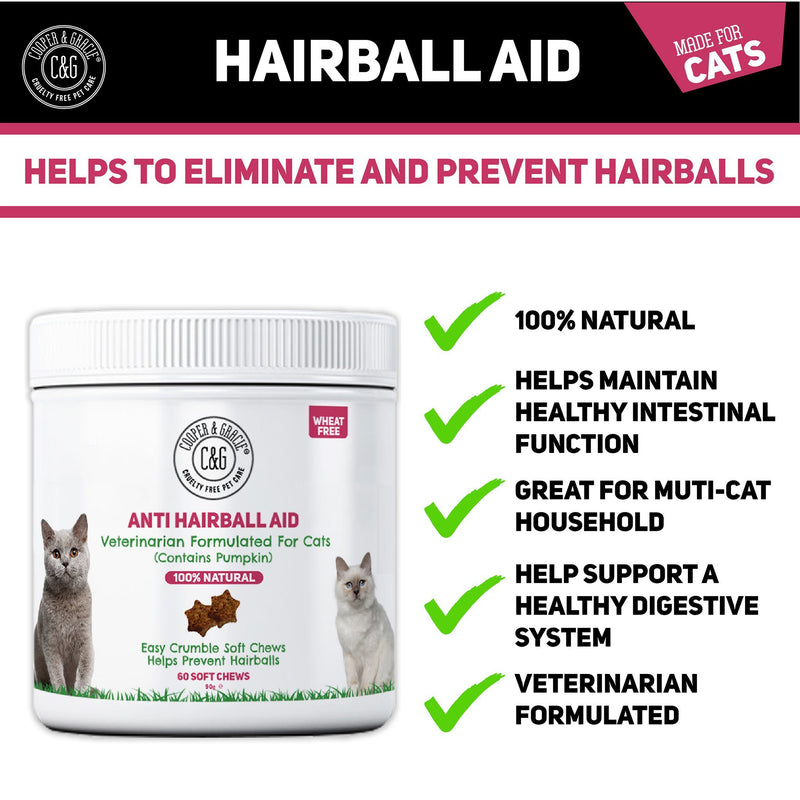 Anti-Hairball Cat Treats  60 Soft Chews (4597967552567)