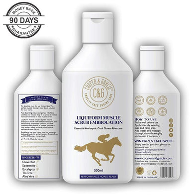 Horse Liquiform Muscle Scrub Embrocation Natural Therapeutic Wash 500ML