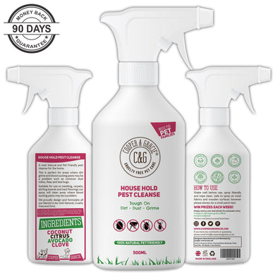 House Hold Pest Cleanse | Protection against Fleas, Ticks & Bed Bugs 500ML