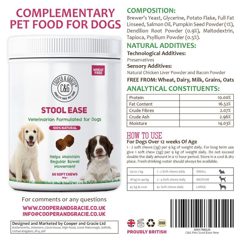 Stool Ease for Dogs 60 Soft Chews