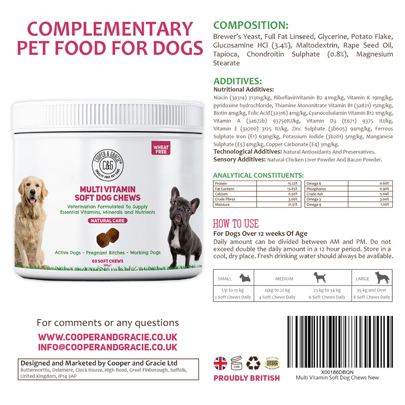 Multivitamin All in One Supplement for Dogs