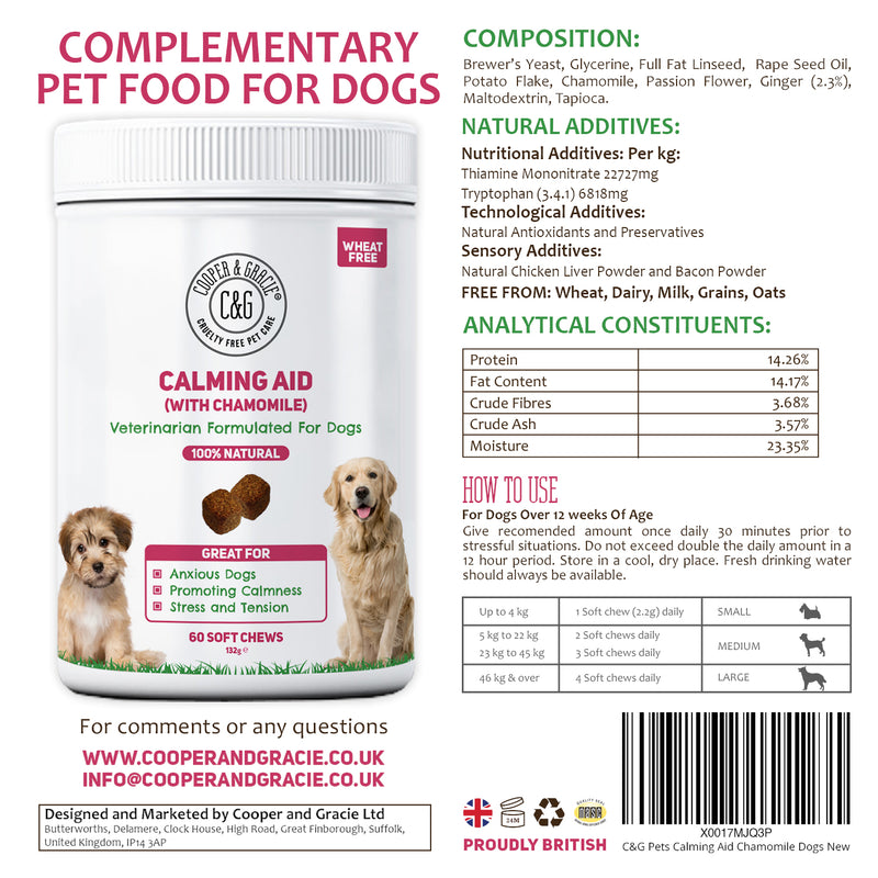 Calming Supplements for Dogs with Chamomile