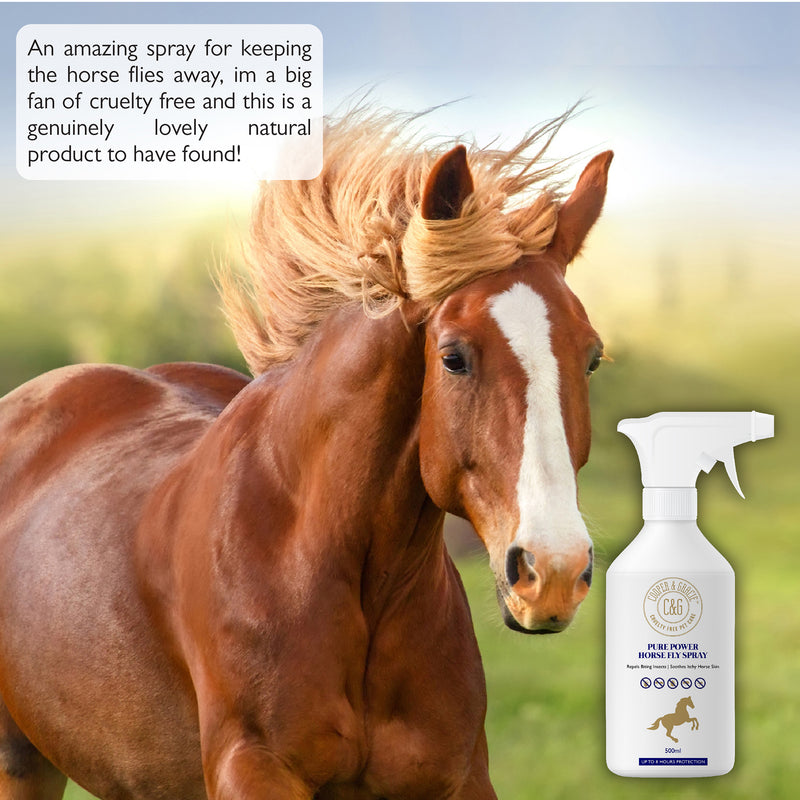 Pure Power Horse Fly Spray 8 Hour Sweat Resistant Citronella Spray 100% Organic Natural (1620404764727)