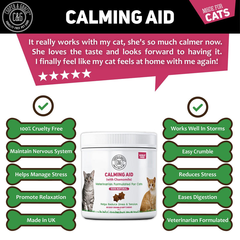 Calming Cat Treats with Chamomile 60 Soft Chews (4597968044087)