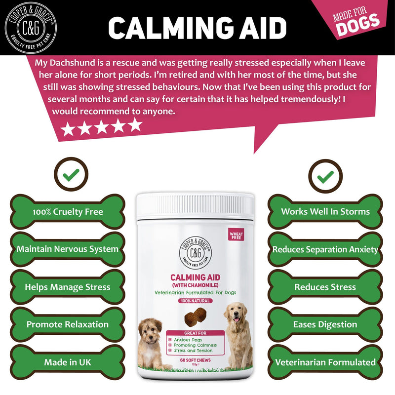 Calming Supplements for Dogs with Chamomile 60 Soft Chews (4597967913015)