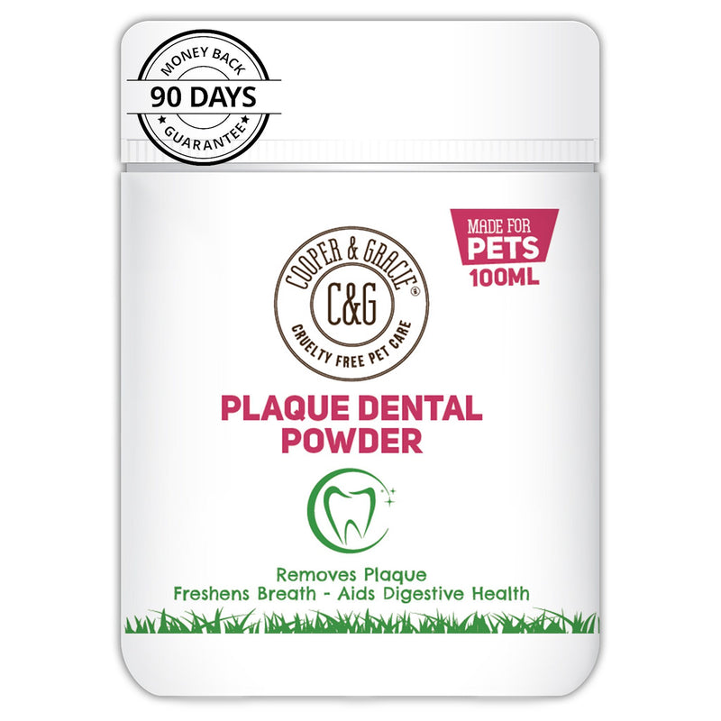 Plaque Dental Powder 100ml With Turmeric Aids Digestive Health And Plant Based Antibacterial Blend (4606806261815)
