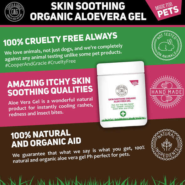 Aloe Vera Gel For Dogs - Best Organic Natural Skin Soothing Aid - 250ml