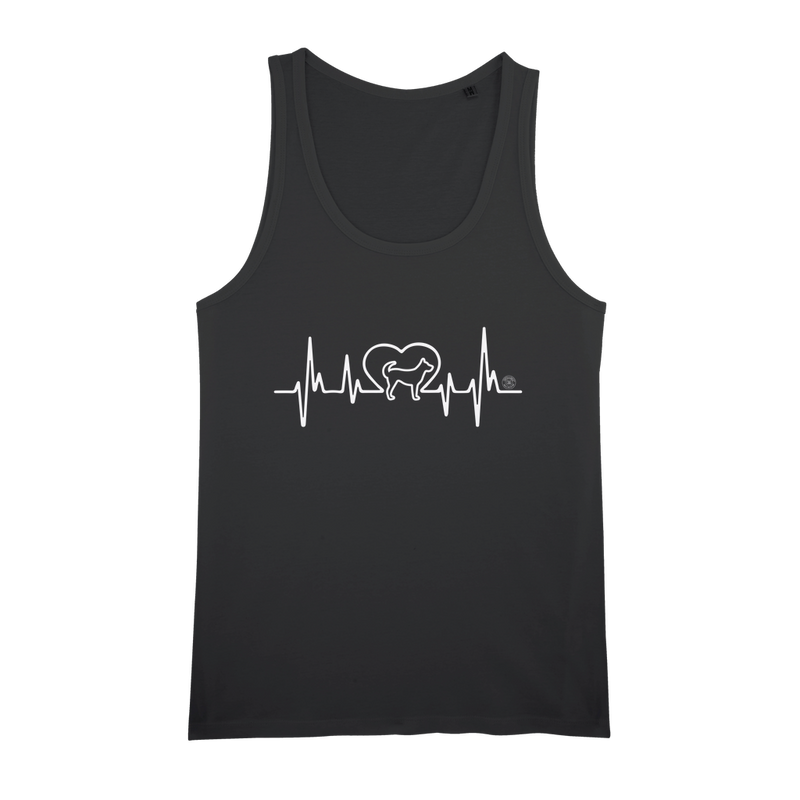 Heartbeat with Dog - Unisex Tank Top