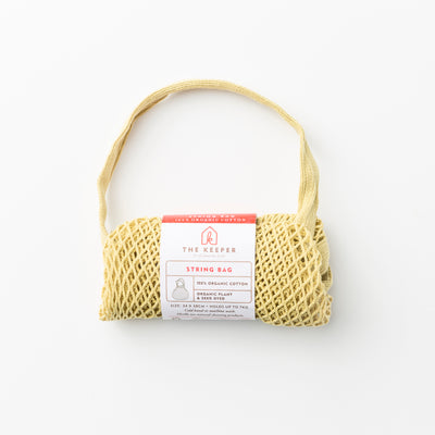 Solid Plant dyed String Bag - The Keeper
