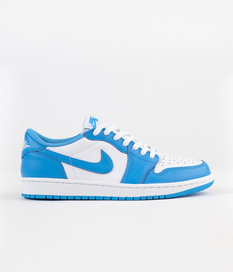 Nike SB x Air Jordan 1 Low UNC Shoes - Dark Powder Blue / Dark Powder Blue - White