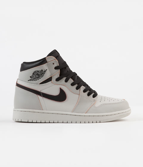 Nike SB Air Jordan 1 OG Defiant Shoes - Light Bone / Black - Crimson Tint - Hyper Pink