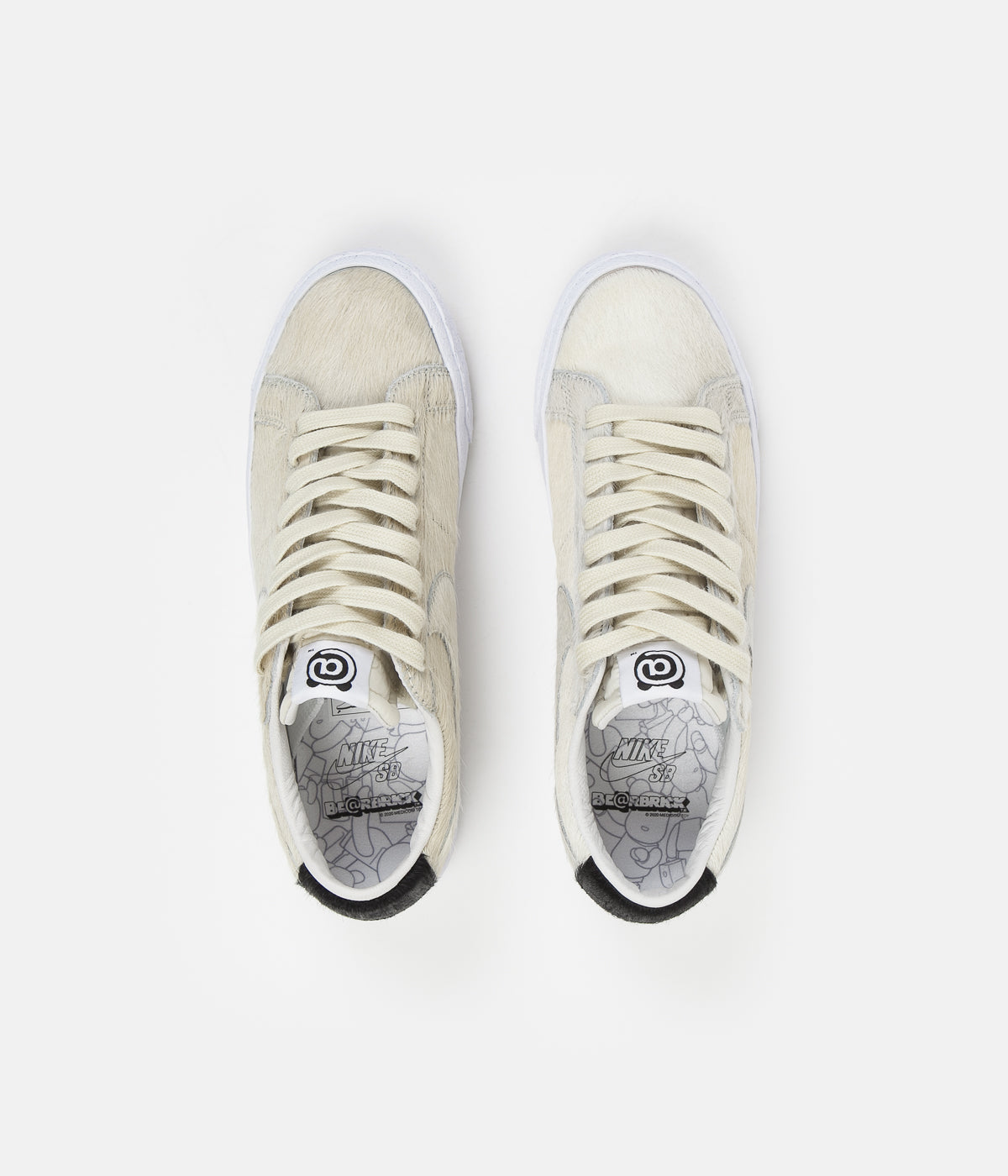 Nike SB Blazer Low GT Medicom Shoes - Light Cream / Light Cream - Black