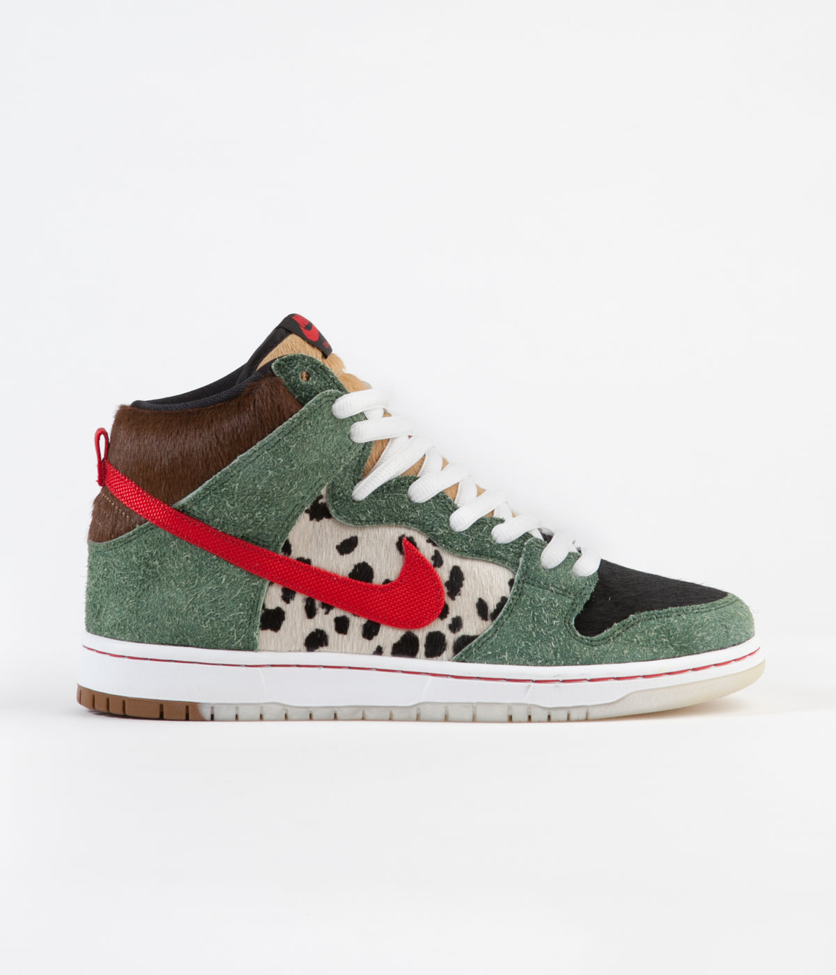 big sale 0de73 84c3a ... Nike SB Dunk High  Dog Walker  Shoes - Fir   University Red - Black ...