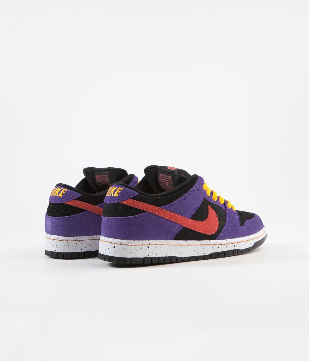 Nike SB Dunk Low Pro 'ACG Terra' Shoes - Black / Sunburst - Varsity Purple - Taxi