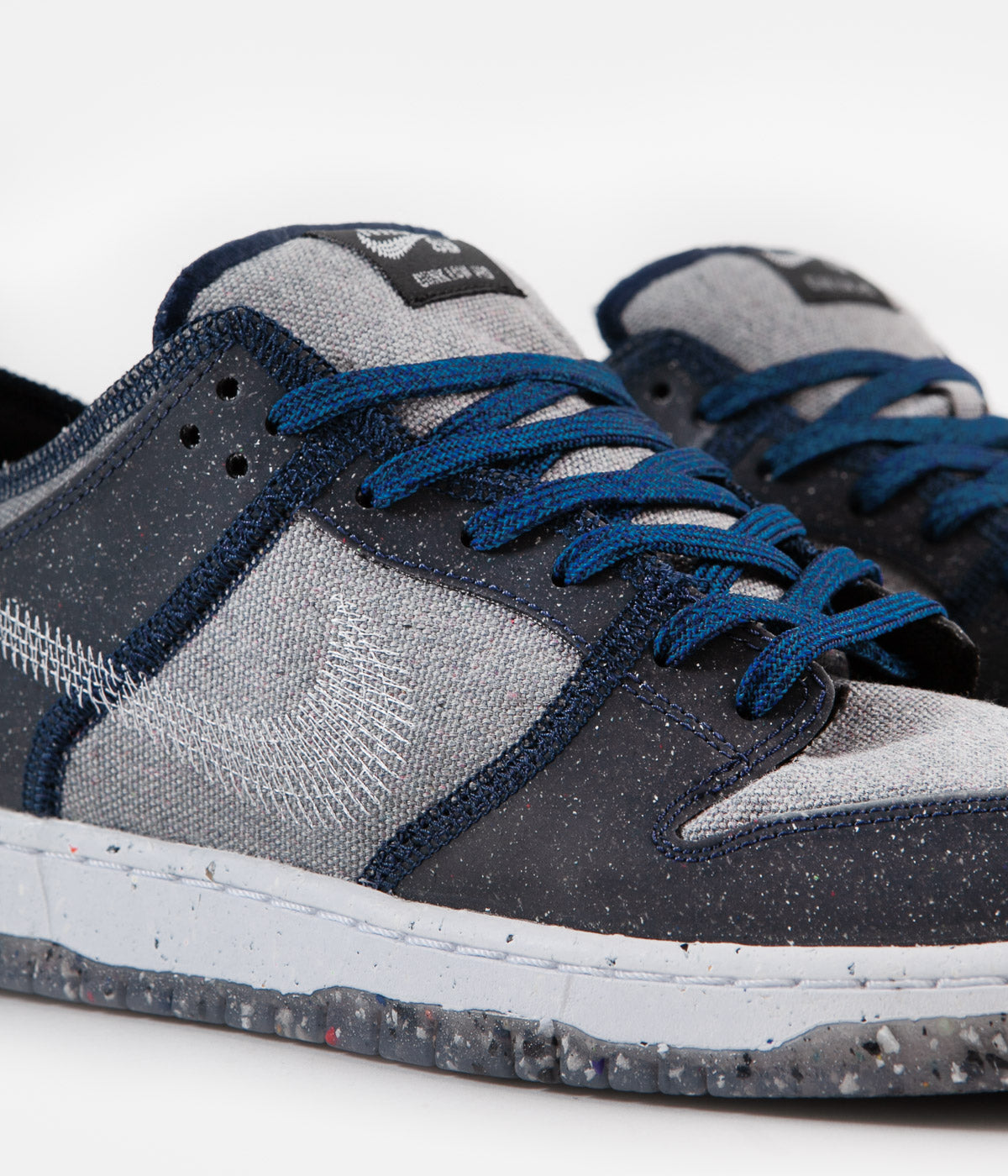 Nike SB Dunk Low Pro E Shoes - Dark Grey / White - Dark Grey - Electric Green
