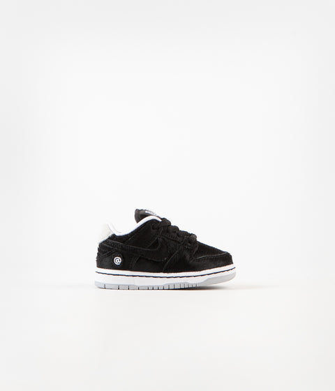 Nike SB Dunk Low Pro Medicom Toddler Shoes - Black / Black - White