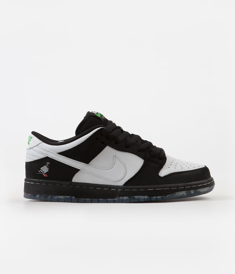 Nike SB Dunk Low Pro OG 'Panda Pigeon' Shoes - Black / White - Green Gusto