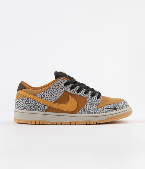 Nike SB Dunk Low Pro 'Safari' Shoes - Neutral Grey / Kumquat - Desert Ochre