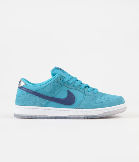 Nike SB Dunk Low Pro 'Blue Fury' Shoes - Blue Fury / Deep Royal - Blue Fury - White