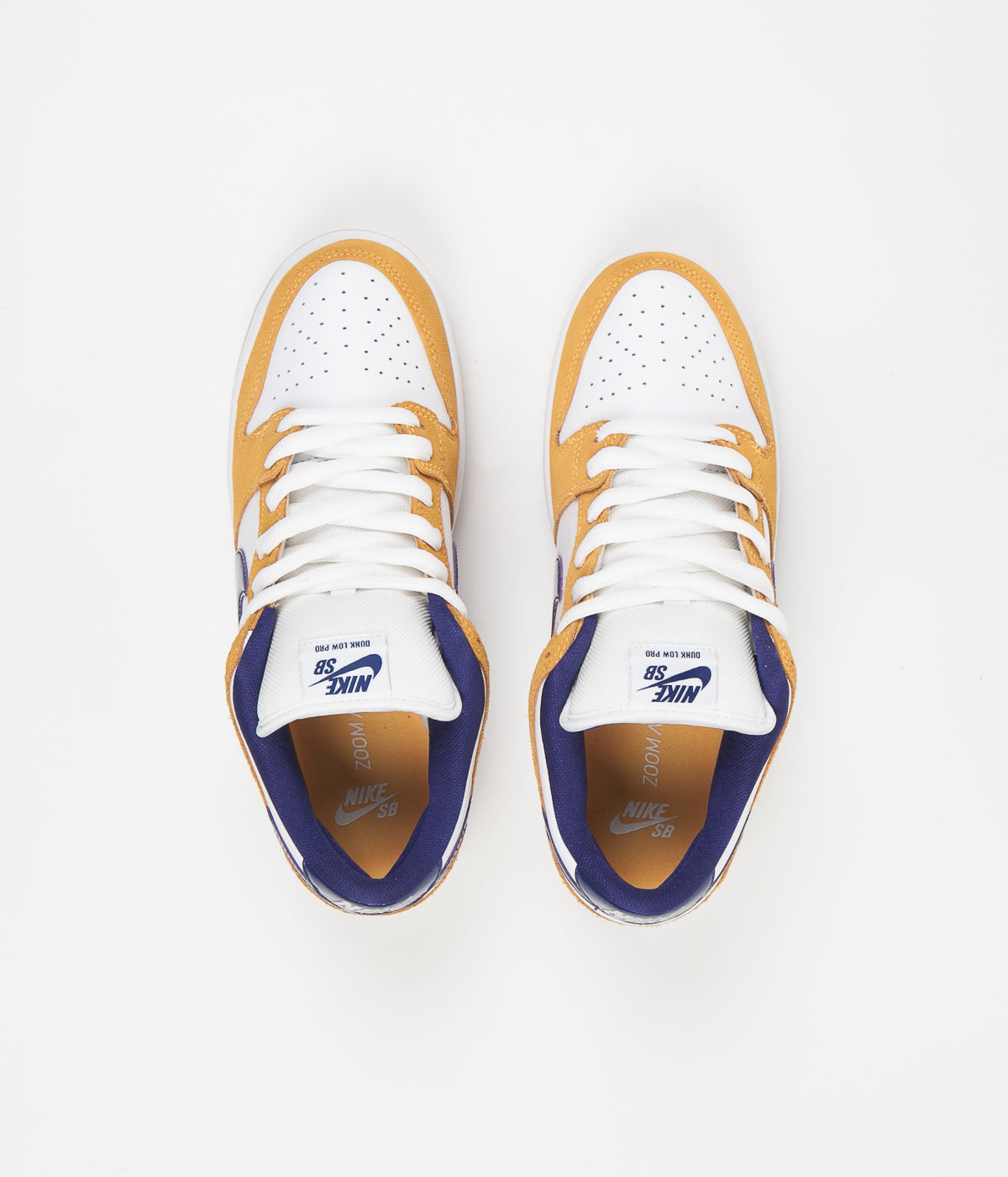 Nike SB Dunk Low Pro Shoes - Laser Orange / Regency Purple - Laser Orange