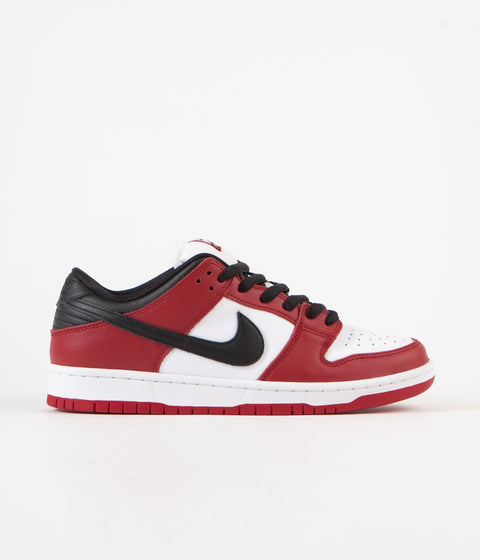 Nike SB Dunk Low Pro Shoes - Varsity Red / Black - White - Varsity Red