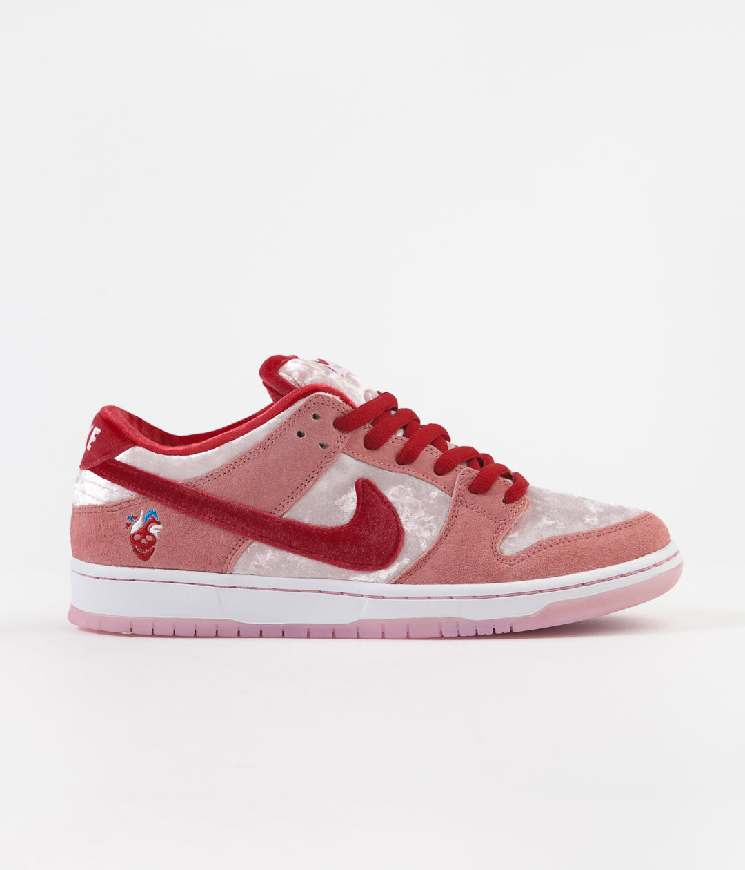 Nike SB 'Strangelove' Dunk Low Pro Shoes - Bright Melon / Gym Red - Medium Soft Pink