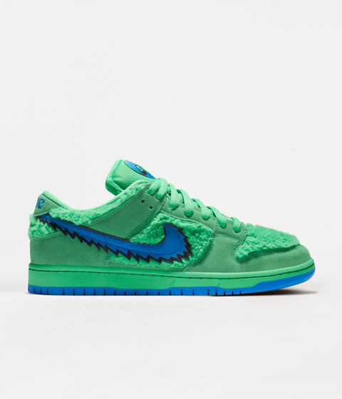 Nike SB Grateful Dead Dunk Low Pro Shoes - Green Spark / Soar