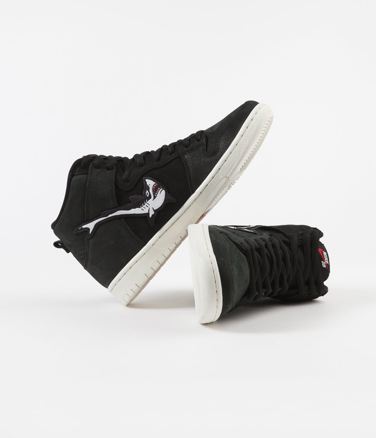 Nike SB Orange Label Dunk High Pro 'Oski' Shoes - Black / White - Black - Sail