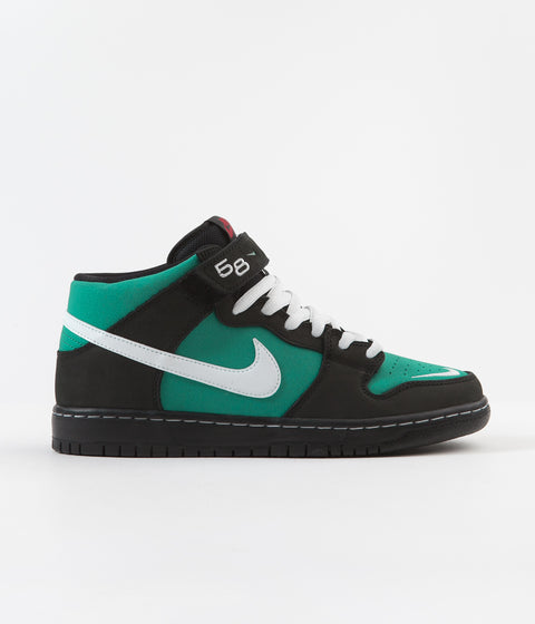 Nike SB Orange Label Dunk Mid Pro 'Griffey Jr' Shoes - Black / White - Black - Fresh Water