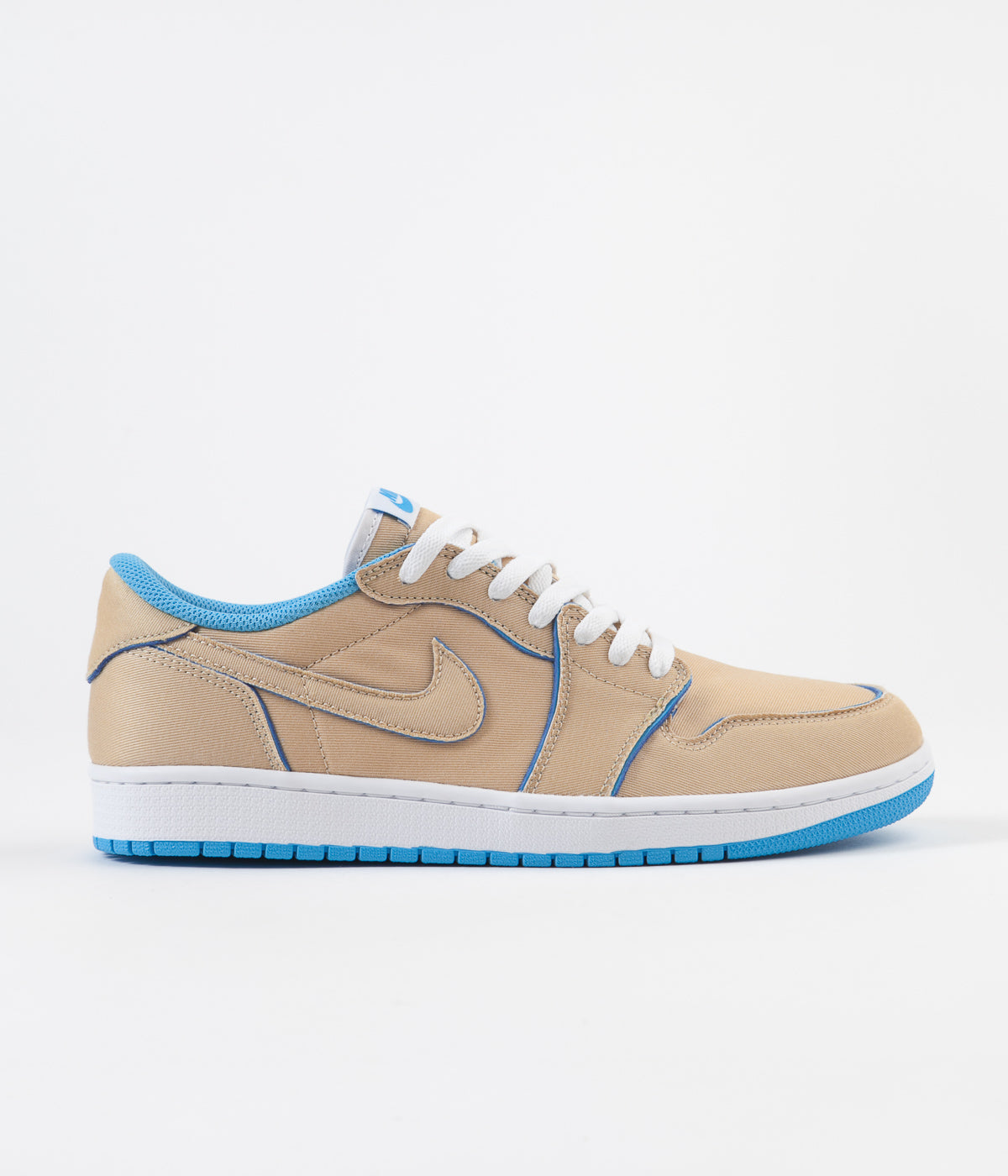Nike SB x Air Jordan 1 Low Shoes - Desert Ore / Royal Blue - Dark Powder Blue