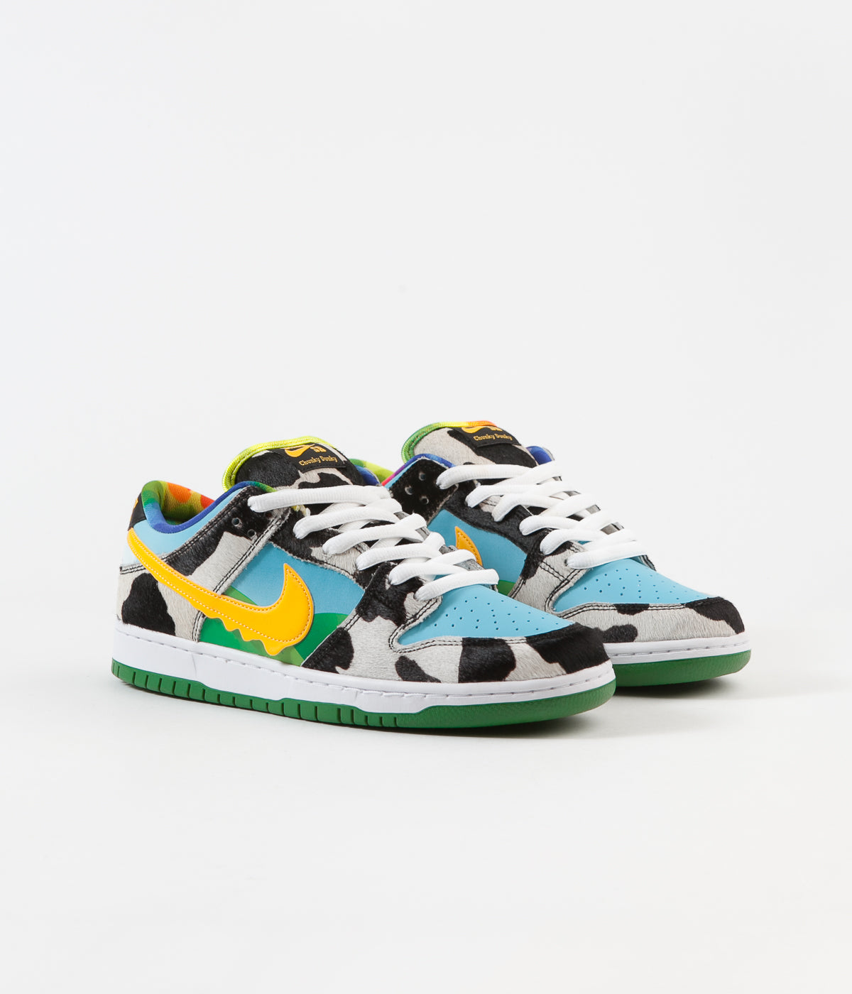 Nike SB x Ben & Jerry's 'Chunky Dunky' Dunk Low Pro Shoes - White / University Gold - Lagoon Pulse - Black