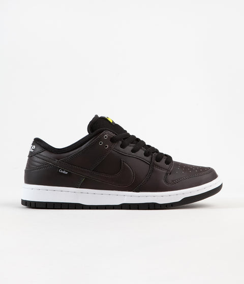 Nike SB x Civilist Dunk Low Pro QS Shoes - Black / Black - Black