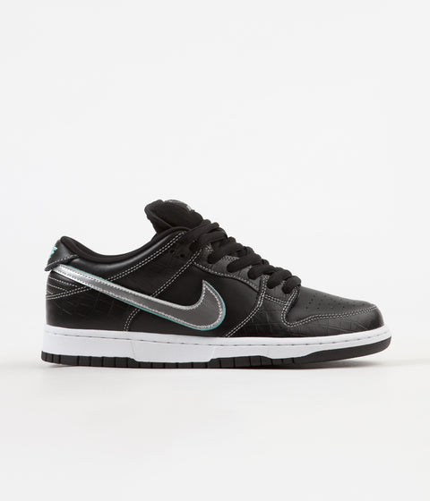 Nike SB x Diamond Dunk Low Pro OG Shoes - Black / Chrome - Black - Tropical Twist