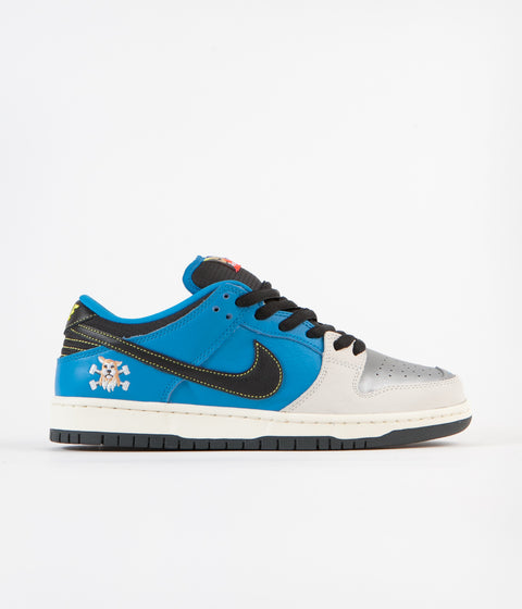 Nike SB x Instant Dunk Low Pro QS 2 Shoes - Blue Hero / Black - Pale Ivory