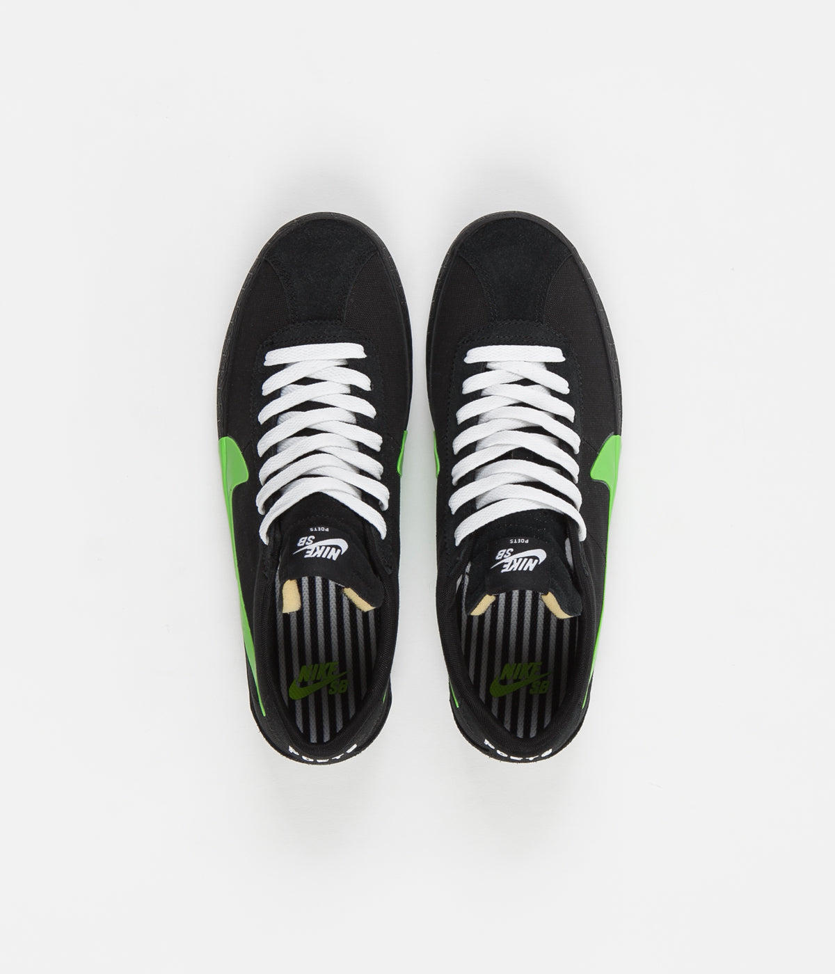 Nike SB x Poets Bruin Shoes - Black / Voltage Green - White
